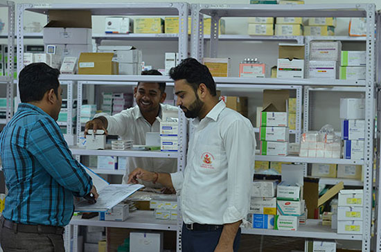 Pharmacy providing in-patient support